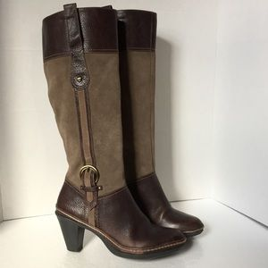 Naturalizer brown leather equestrian Boots